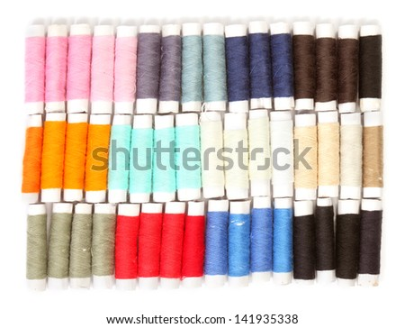 Colored thread for sewing - stock photo