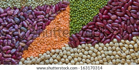 Colored triangles of various legumes