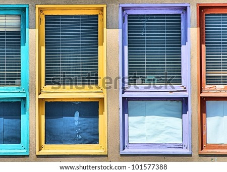 Window Frame Colors colored window frame stock photo 101577388 - shutterstock