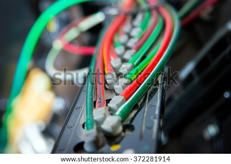 Colored wires in a vehicle
