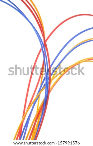 Colored Wires Used Electrical Computer Networks Stock Photo (Royalty ...