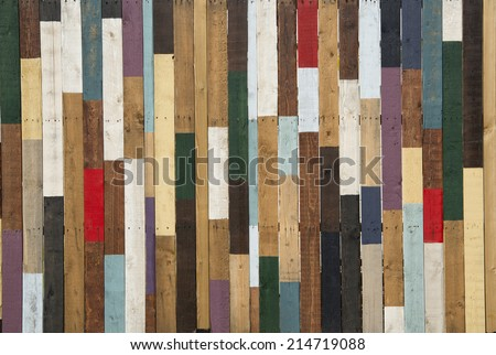 colored wood - stock photo