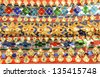 colorful abstract background at Wat Phra Kaew - stock photo