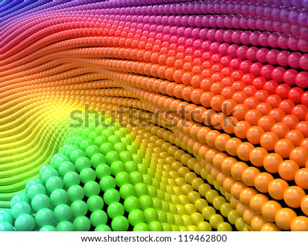 Colorful Abstract Background. 3D Render. - stock photo
