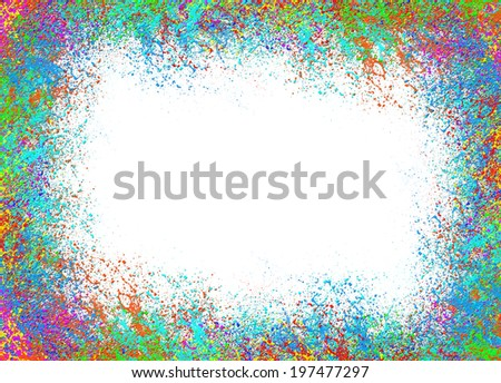Colorful abstract background isolated on white background