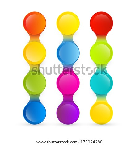 Colorful Abstract Background Isolated on White Background - Also Available in Vector Version