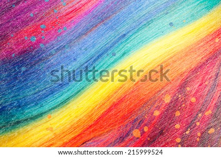 colorful abstract background, made from color wig - stock photo