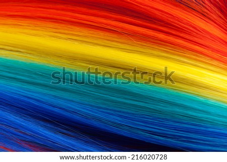colorful abstract background, made from color wig