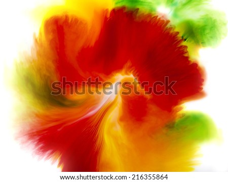 Colorful abstract background of flower concept, red green and yellow softy background  - stock photo