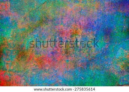 Colorful abstract background painted wall gradient colors. - stock photo