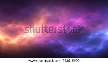 Colorful abstract background: vibrant pattern of flowing light - stock photo