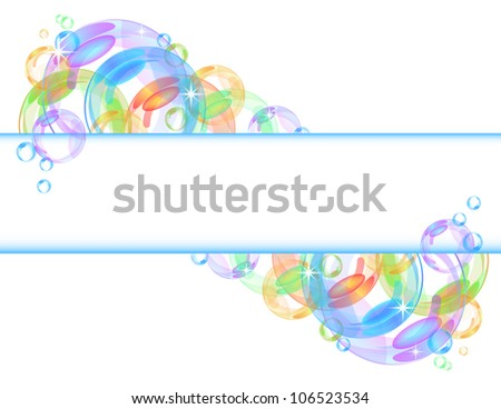 Colorful abstract banner with transparent bubbles. - stock photo