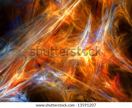 colorful abstract chaotic fractal design over black