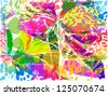 colorful abstract colors. raster - stock photo