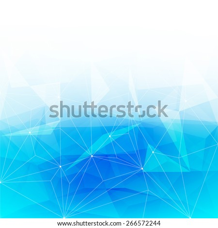 Colorful abstract crystal background. Ice or jewel structure. Blue bright color. - stock photo