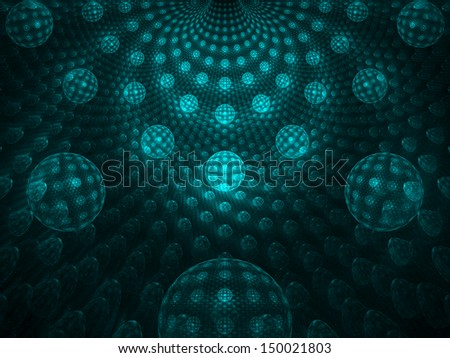 Colorful abstract digital fractal art on the black background