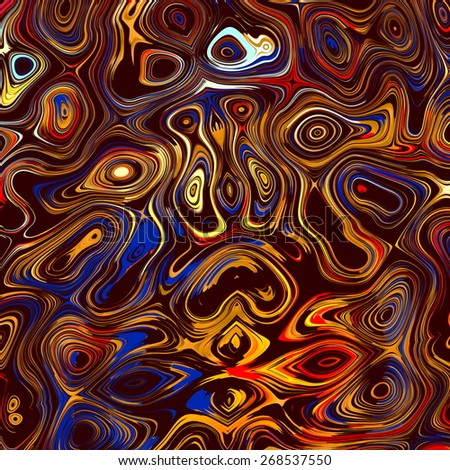 Colorful Abstract Face Background. Digital Fantasy Illustration. Fractal Grunge Image. Psychedelic Style Art Deco. Artistic Swirl Shapes. Blue Yellow Colors. Decorative Chaotic Splatter. Elements. - stock photo