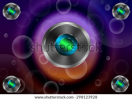 Colorful abstract fractal background with symmetrical lines and lights - stock photo