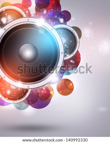 colorful abstract funky music background for party time