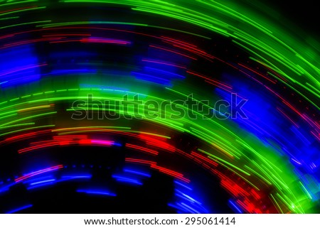 colorful abstract line movement on black background