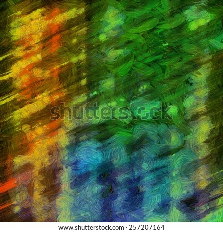 Colorful abstract modern painting background. - stock photo