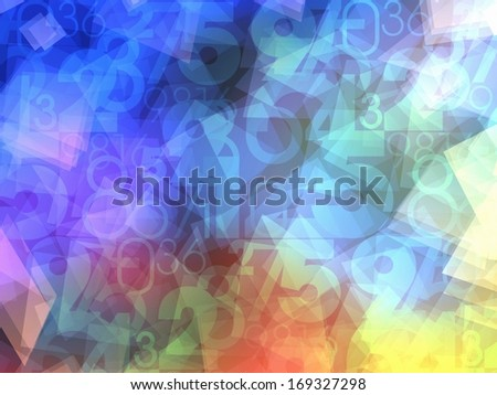 colorful abstract numbers background texture - stock photo