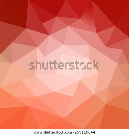 colorful abstract orange red pink and peach background with texture and white center spotlight - stock photo