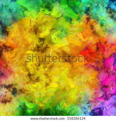 Colorful Abstract Painting - stock photo