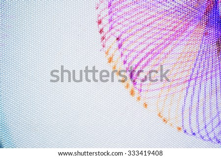 Colorful abstract pattern from pen handwriting with geometry tool(ruler design),use for background. - stock photo