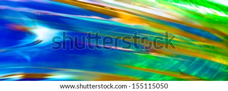 Colorful Abstract Pattern of Green, Blue and Orange - stock photo