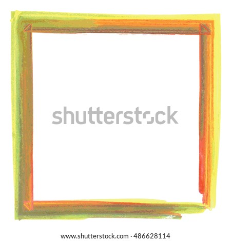 Colorful abstract photo frame with paint effect