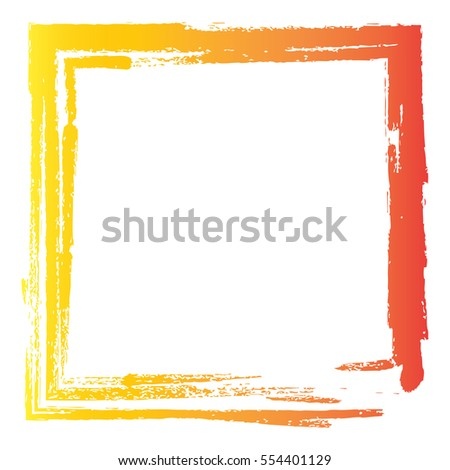 Colorful Abstract Photo Frame Paint Effect Stock Illustration ...