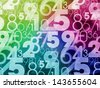 colorful abstract random numbers background - stock photo