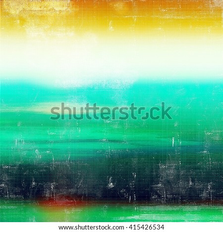 Colorful abstract retro background, aged vintage texture. With different color patterns: yellow (beige); green; blue; red (orange); white; cyan - stock photo