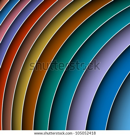 Colorful abstract shadow lines background.Raster version - stock photo