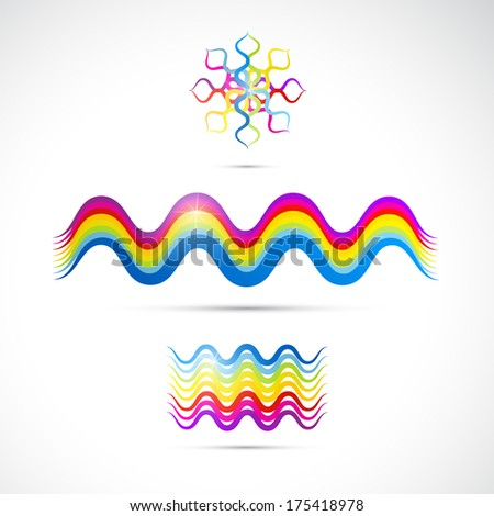 Colorful abstract shapes - Also Available in Vector Version  - stock photo