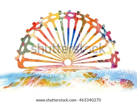 Colorful Abstract Sunrise Sunset Beach Design Element Background