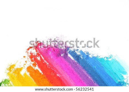 colorful abstract texture made with pastel stick - stock photo