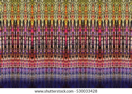 colorful abstract texture pattern asian style fabric background from technique adapted from digital photo with a computer program.