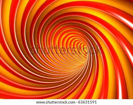 Colorful Abstract Tunnel - stock photo