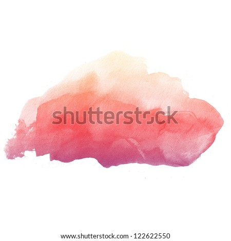 colorful Abstract water color art hand paint on white background - stock photo