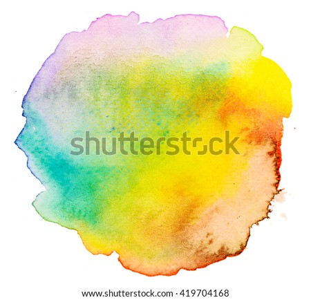 Colorful abstract watercolor background texture