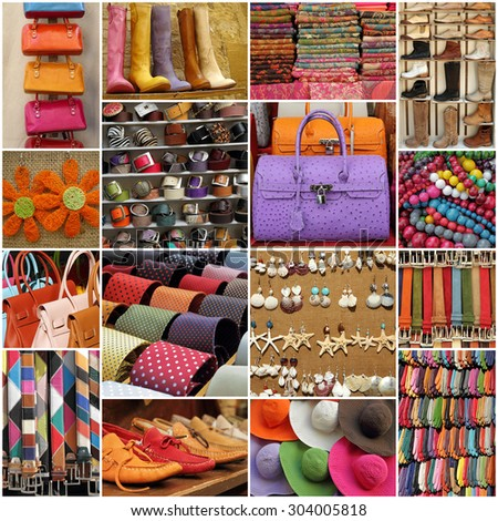 colorful accessories collection - stock photo