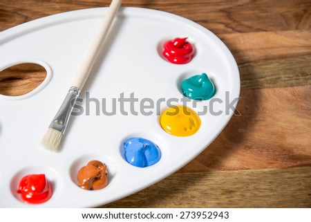 colorful acrylic paints