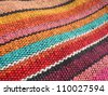 Colorful african, peruvian rug textile. More of this motif & more textiles and backgrounds in my port. - stock photo