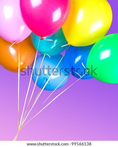 Colorful air balloons - stock photo