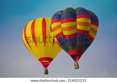 Colorful Air balloons in the air with blue sky