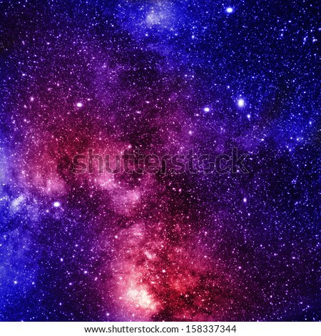 colorful and beautiful galaxy somewhere in deep outer space - stock photo