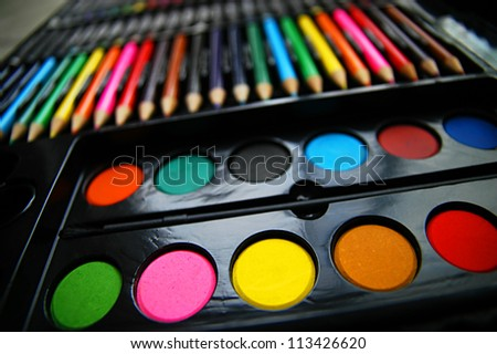 Colorful art palette - stock photo