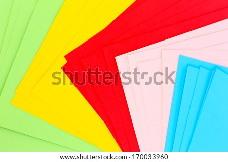 Colorful art paper background - stock photo